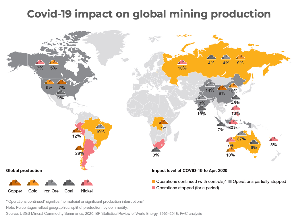 """Map shows global mining """"relatively unscathed"""" by pandemic"""